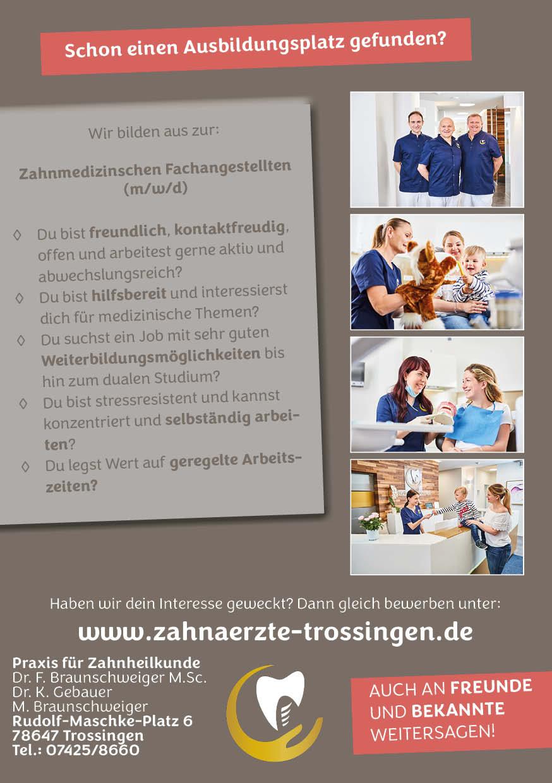 Auszubildende zur zahnmedizinischen Fachangestellten (m/w/d)